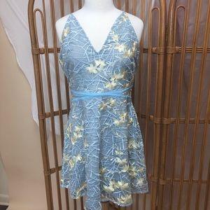 NWT Floral lace mini dress